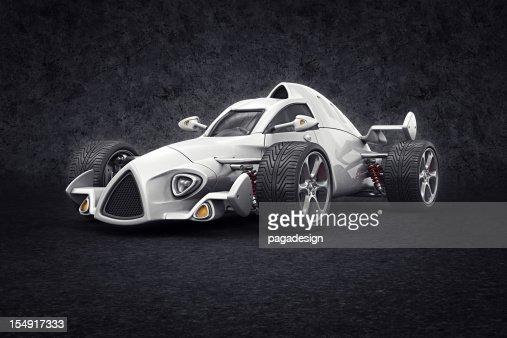 Blanc voiture de course : Photo