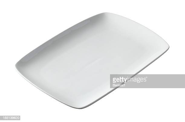 White rectangular plate