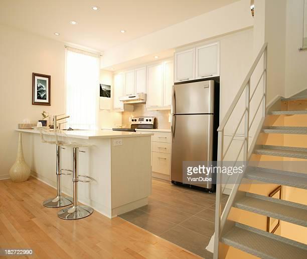 Moderna cocina blanco residencial