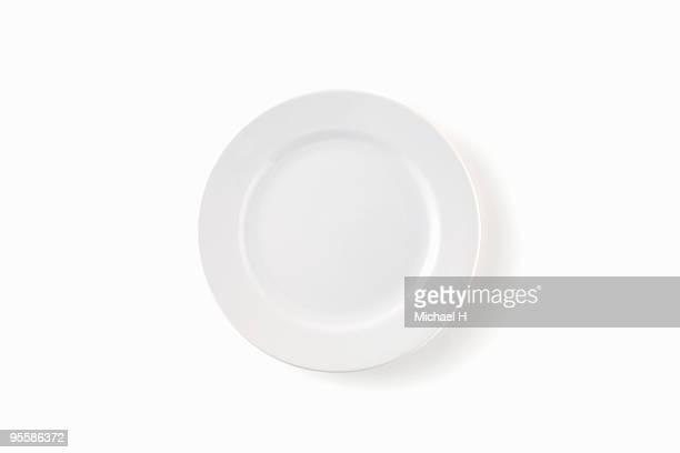 White, round plate