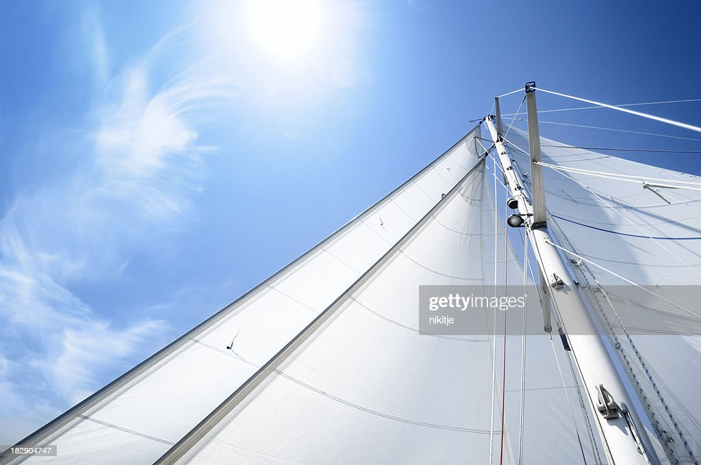 White sails on sunny day