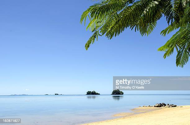 White sand beach on Tavenui Island, Fiji
