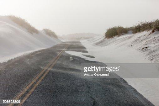 White Sands Roads : Stock Photo