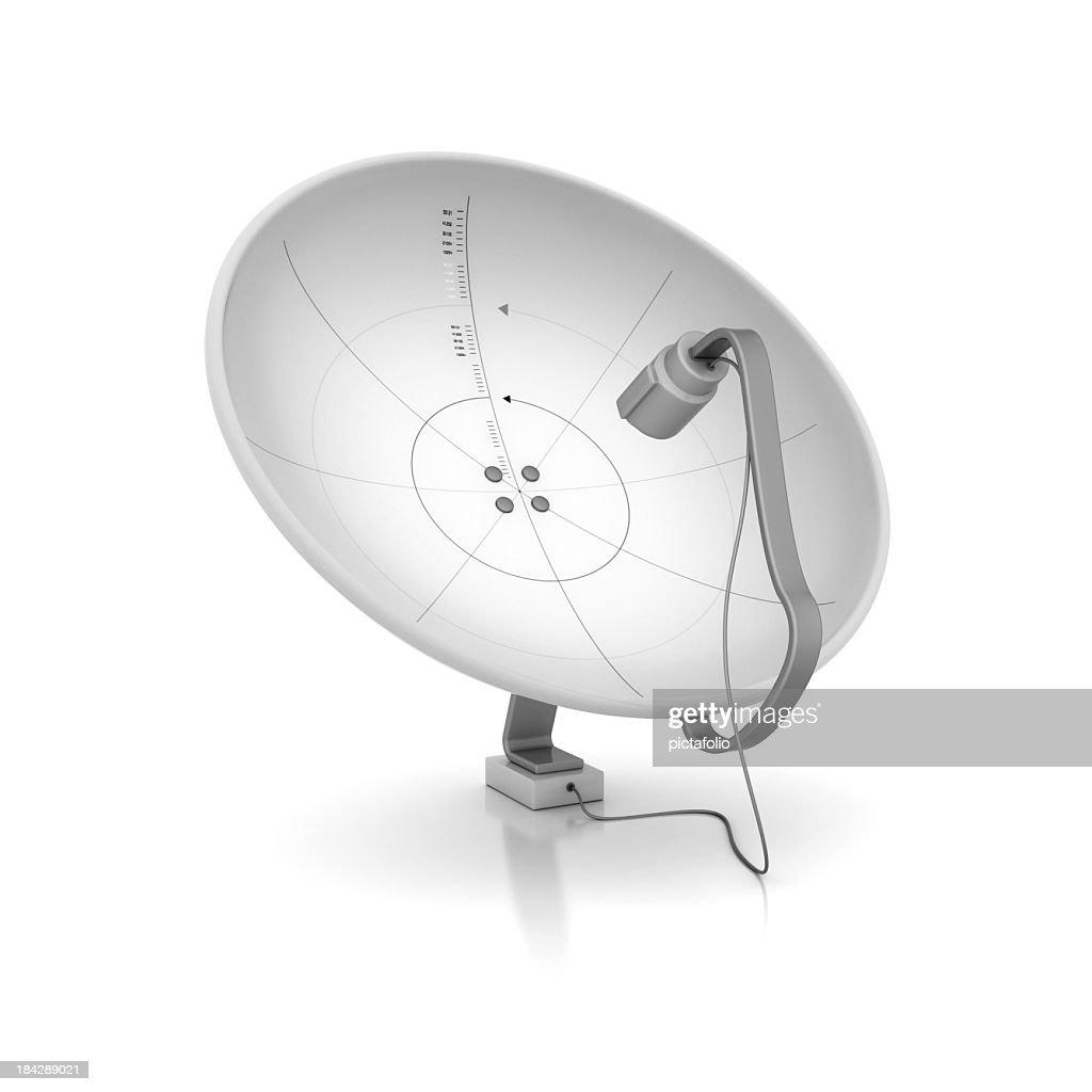 White satellite dish receivers