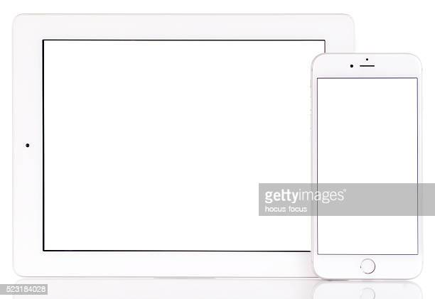 White screen iPad and iPhone 6 Plus