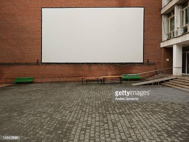 White screen outdoors