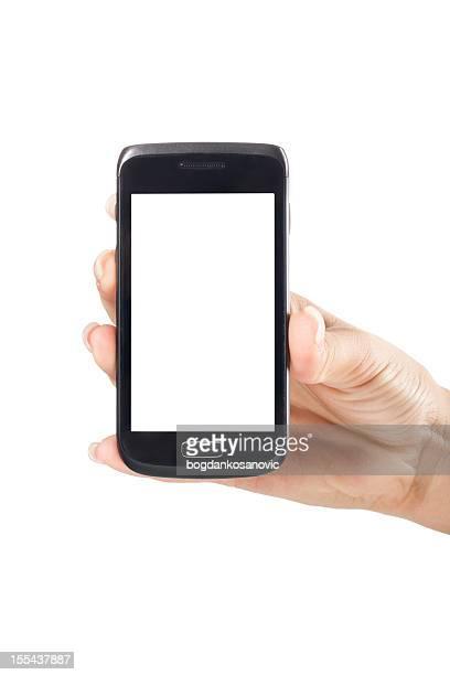 Weißer Bildschirm smartphone