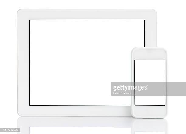White screen tablet pc & smart phone