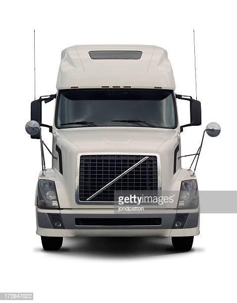 white semi truck  2