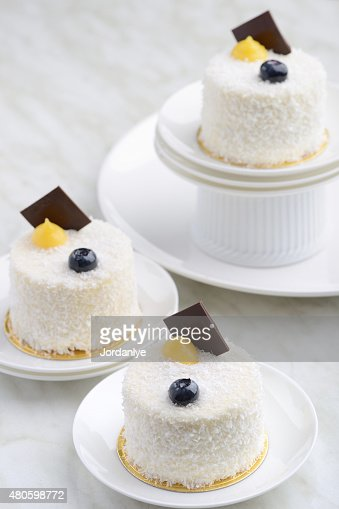 White Sesame Dessert Cake : Stock Photo