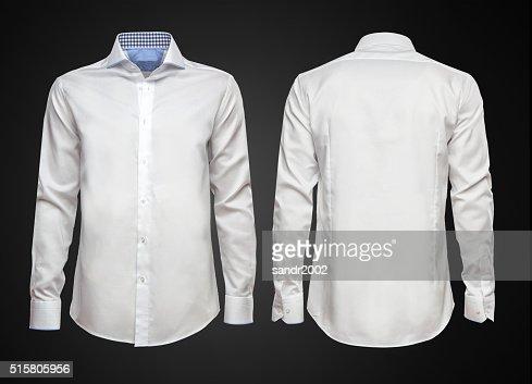 White shirt on dark background. Businessman clothes : Stock Photo