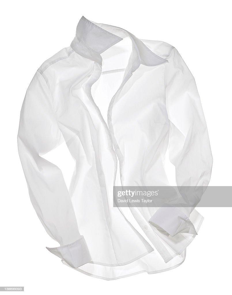 White Shirt On Light Box : Stock Photo