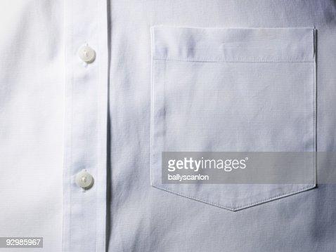 White shirt pocket detail.