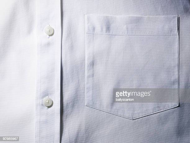 White shirt pocket detail.