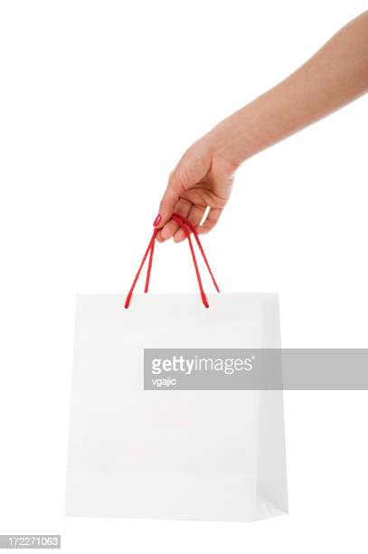 White shopping bag blank slate