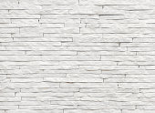 White slate stone wall background