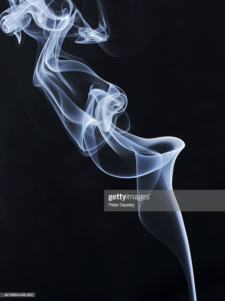 White Smoke On Black Background Stock Photo | Getty Images