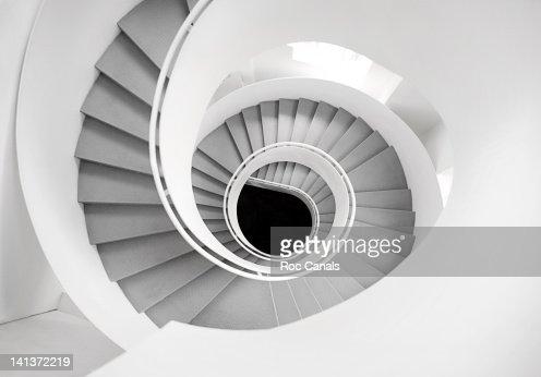 White spiral stairs : Stock Photo