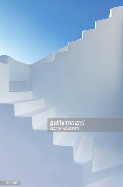 White steps of Santorini church
