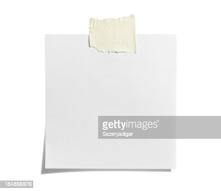 White Sticky Note with  Adhesive Tape