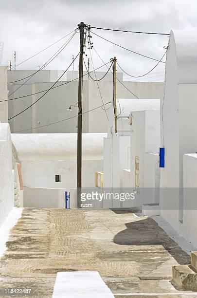 White street, Santorini