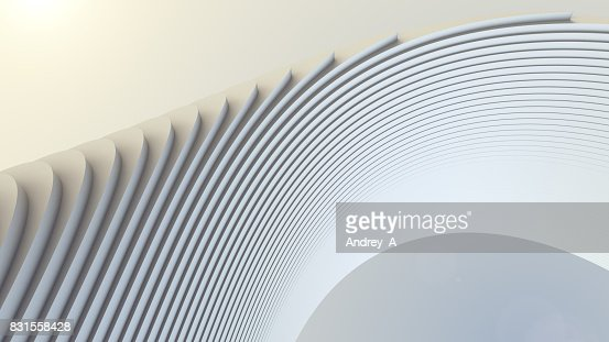 White stripe pattern futuristic background. 3d render illustration : Stock Photo