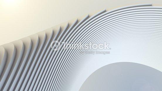 White stripe pattern futuristic background. 3d render illustration : Stock Photo