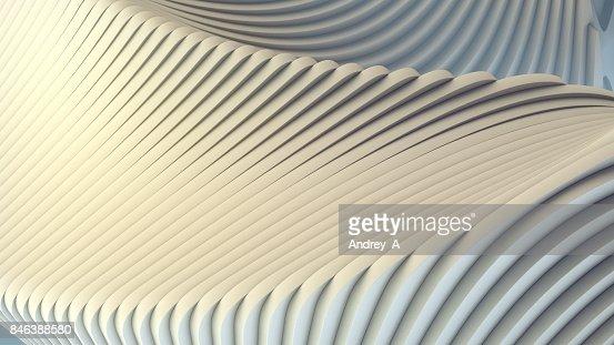 Bande blanche de fond futuriste. illustration de rendu 3D : Photo