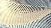 White stripe architectural futuristic pattern background. 3d render illustration
