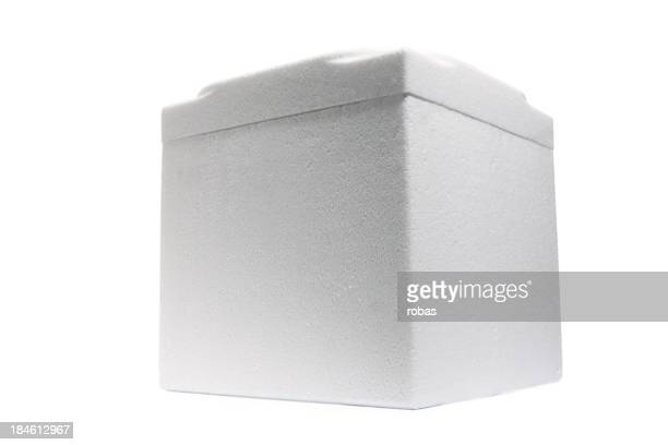 Blanco styrofoam caja