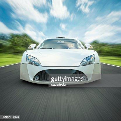 white supercar : Stock Photo