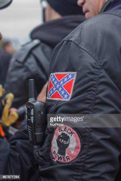 White supremacists came decked out in their various groups flair in Shelbyville Tennessee Illinois US on 28 Ocotber 2017