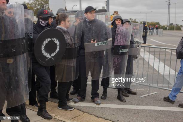 White Supremacists formed large shield walls to lock out anyone that wasn't a member of a hate group in Shelbyville Tennessee Illinois US on 28...