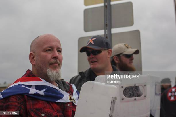 White Supremacists formed shield walls in an attempt to instill fear in the counter protesters