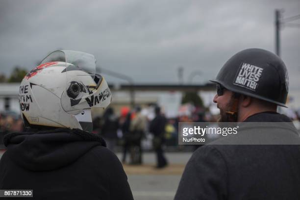 White supremacists were allowed to bring in Helmets and Shields for unknown reasons in Shelbyville Tennessee Illinois US on 28 Ocotber 2017