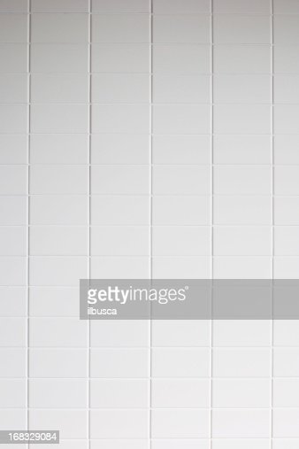 White tile wall texture background