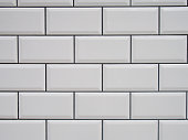 White tile with black joints texture