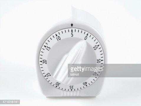 white timer set at five minutes