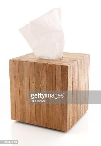 White Tissue in a Wooden Box