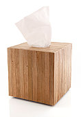 White Tissue in a Wooden Box
