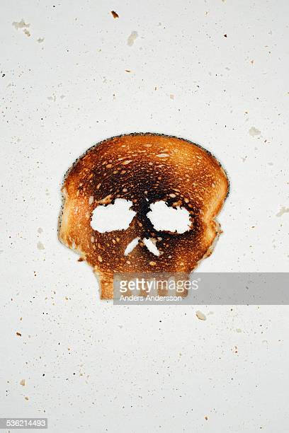 White toast shaped as skull