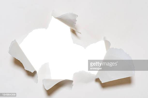 White torn paper