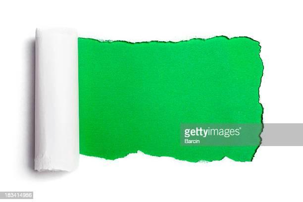 Rasgado de papel blanco