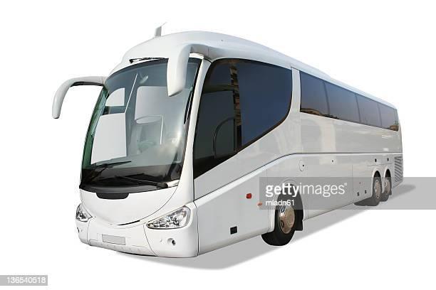 bus touristique blanc