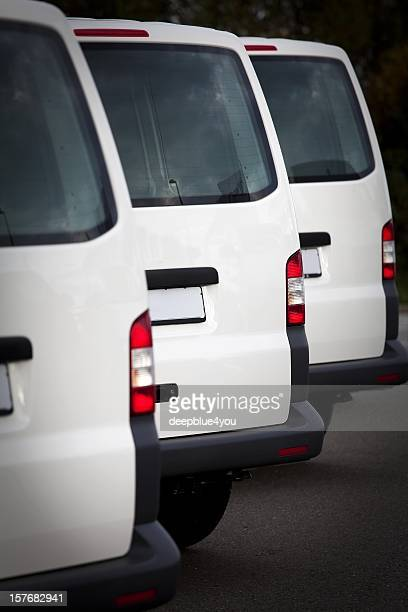 Blanc transporteurs alignées