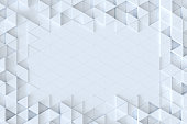 White triangle tiles seamless pattern, 3d rendering background.