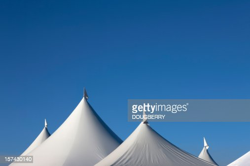 White triangles against blue sky