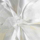White tulle background