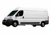 White van (isolated)