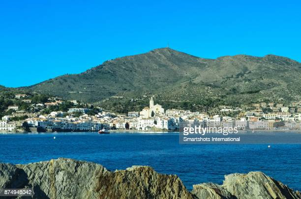 White village of Cadaques cityscape with Mediterranean waterfront in Catalonia, Spain